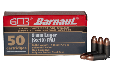 9mm luger poly coated ammunition